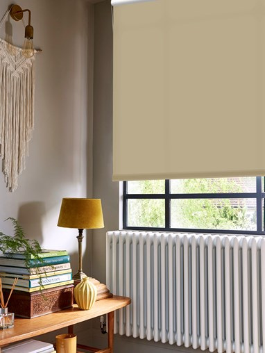 Buttered Toast Dim-Out Roller Blind