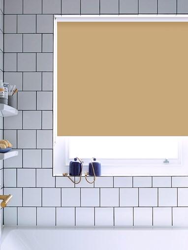 Buttered Toast Bathroom Roller Blind