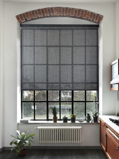Charcoal Weave 5% Sunscreen Roller Blind