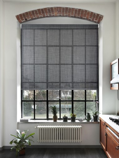 Charcoal Weave 5% Sunscreen Cordless Spring Loaded Roller Blind