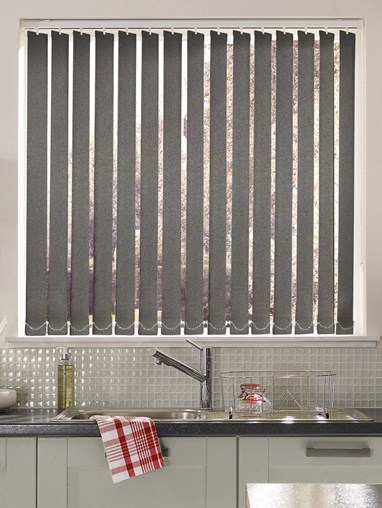 Shadow Grey Daylight 89mm Vertical Blind Replacement Slats