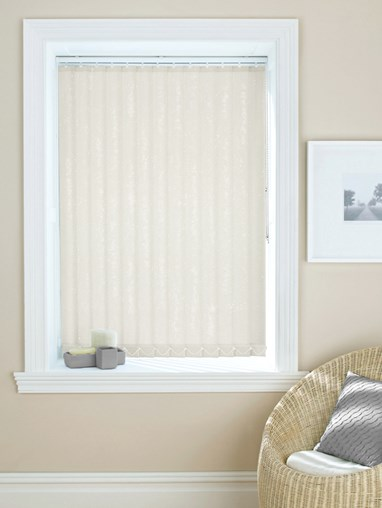 Shimmer Ivory Daylight 89mm Vertical Blind Replacement Slats