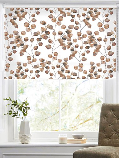 Climbers Autumn Floral Roller Blind