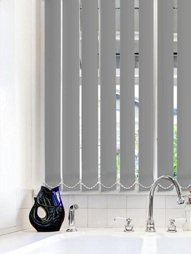 Light Filtering Charcoal 89mm Fire Retardant Vertical Blind