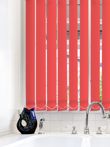 Light Filtering Red 89mm Fire Retardant Vertical Blind