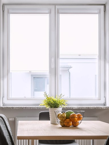 Daylight Carnation White Perfect Fit Roller Blind