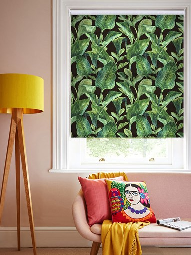 Daylight Jungle Leaves Night No Drill Roller Blind