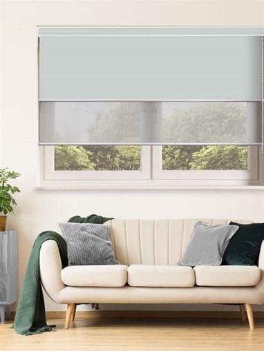 Light Grey Luxury Double Roller Blind