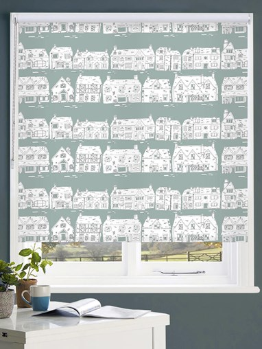 Cotswold Way on Spruce Roller Blind by Amanda Redwin
