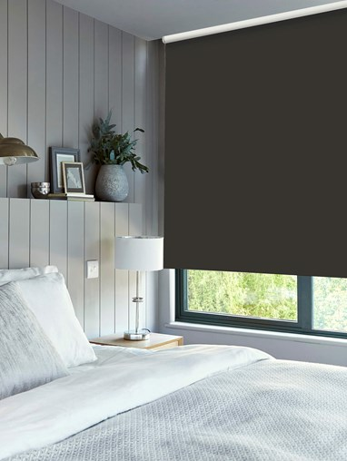Charcoal Roller Blind by Boon & Blake