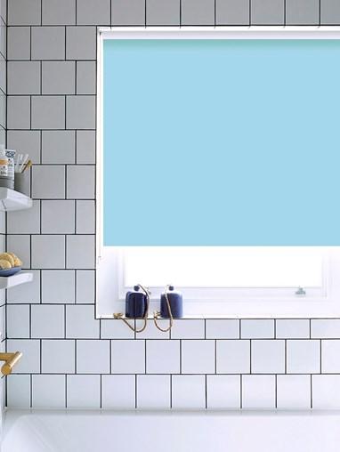 Georgia Blue Bathroom Roller Blind