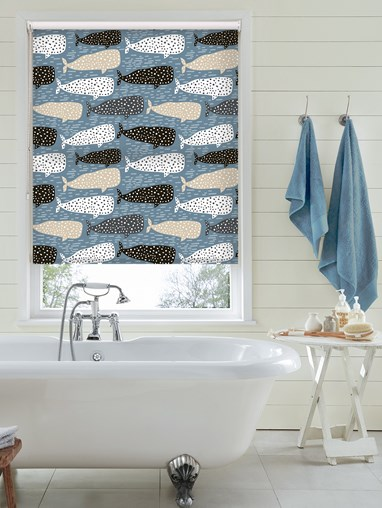 Whale Of A Time Jumbo Roller Blind