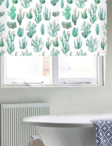 Cactus Aqua Floral Roller Blind