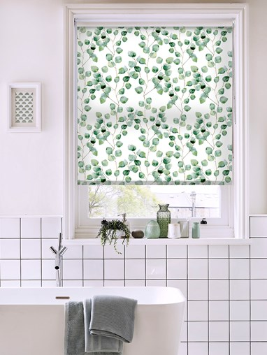 Climbers Natural Floral Roller Blind