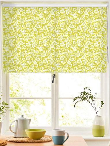 Heritage Green Floral Roller Blind