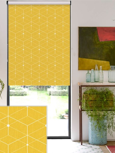 Illusion Yellow Roller Blind
