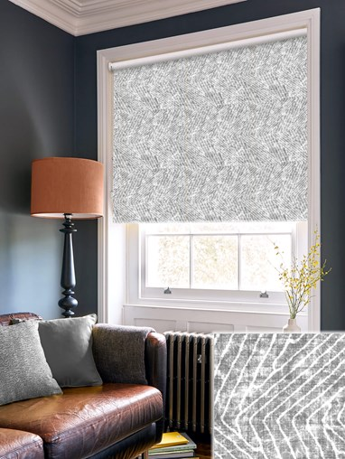 Linear Luxe Charcoal Roller Blind