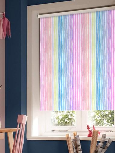 Rainbow Stripe Blackout Roller Blind
