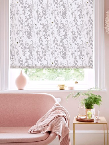 Broom and Bee Dusk Roller Blind by Lorna Syson