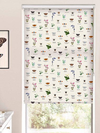 Oxfordshire Wildlife Roller Blind by Lorna Syson