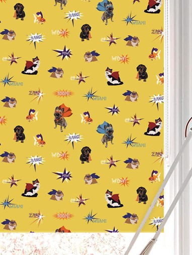 Superhero Pets Roller Blind by Lorna Syson