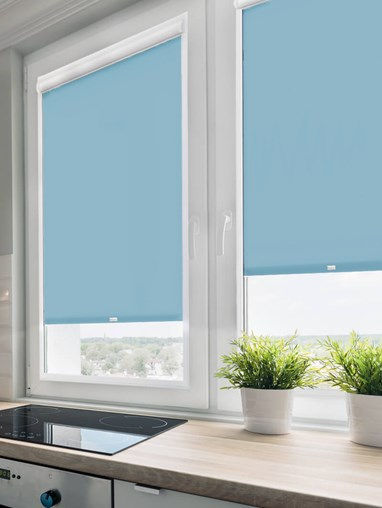 Daylight Flax Blue Perfect Fit Roller Blind