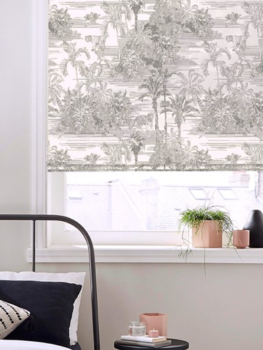 Tropical Toile Natural Roman Blind by Boon & Blake