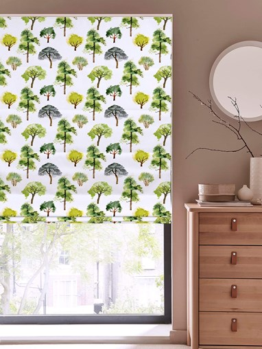 Walking The Grounds Floral Roman Blind