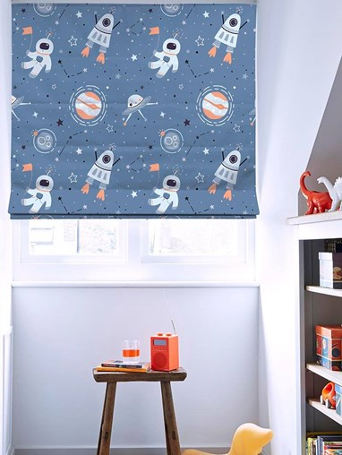 One Small Step Roman Blind