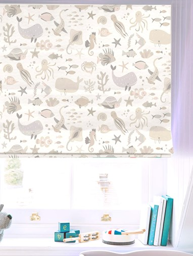 Under The Sea Natural Roman Blind
