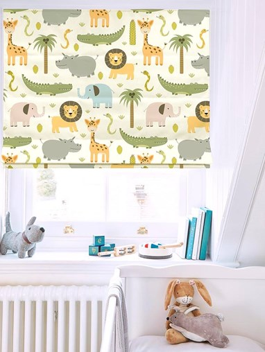 At The Zoo Roman Blind