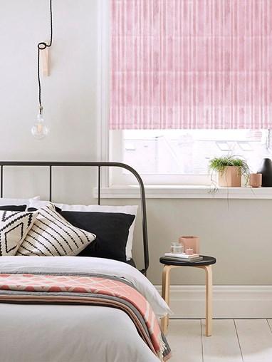 Vintage Stripe Pink Roman Blind
