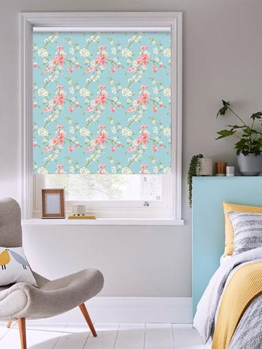 Cherry Blossom Floral Roller Blind