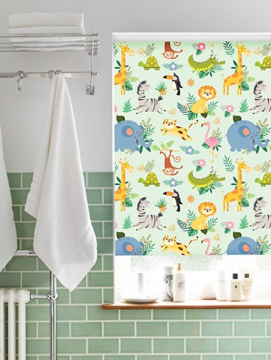 Blackout Safari Party No Drill Roller Blind