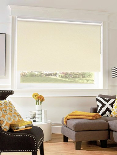 Cool Cream Blackout Thermal Roller Blind