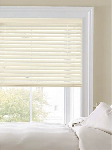 Buttercream 50mm Faux Wood Venetian Blind