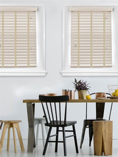 Stormcloud 50mm Woodgrain Faux Wood Venetian Blind With Shell Tapes
