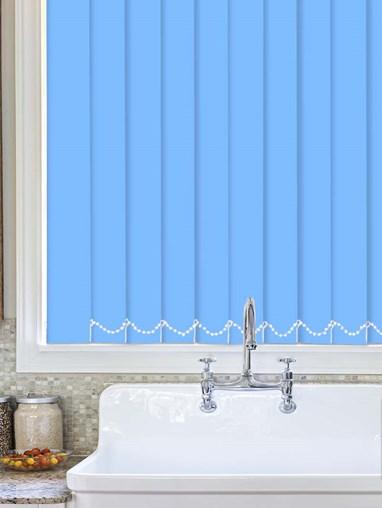 French Blue Waterproof 89mm Vertical Blind