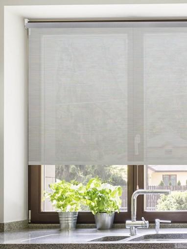 Grey 3% Sunscreen Cordless Spring Loaded Roller Blind