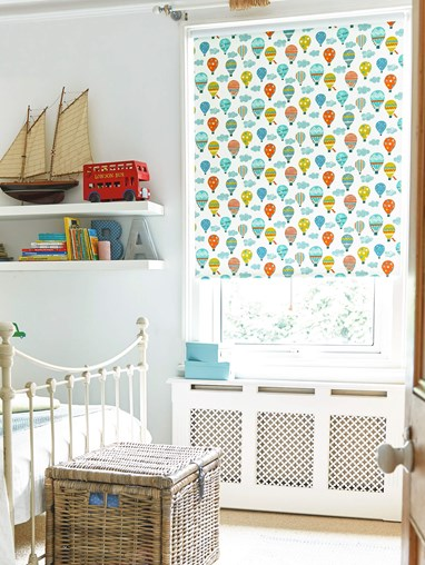 Hot Air Balloon Blackout Cordless Spring Loaded Roller Blind