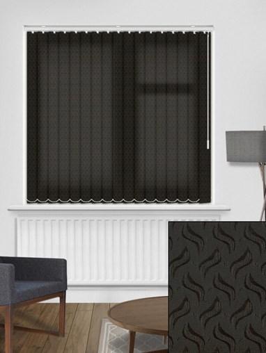 Equi Black 89mm Dim-Out Vertical Blind