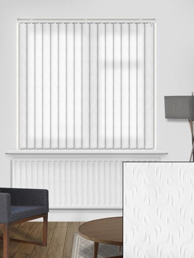 Equi White 89mm Dim-Out Vertical Blind