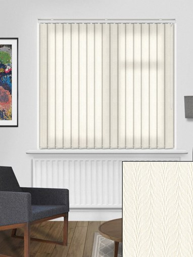Foliage Cream 89mm Vertical Blind Replacement Slats