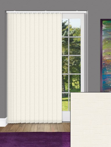 Gridlock Oyster 89mm Dim-Out Vertical Blind
