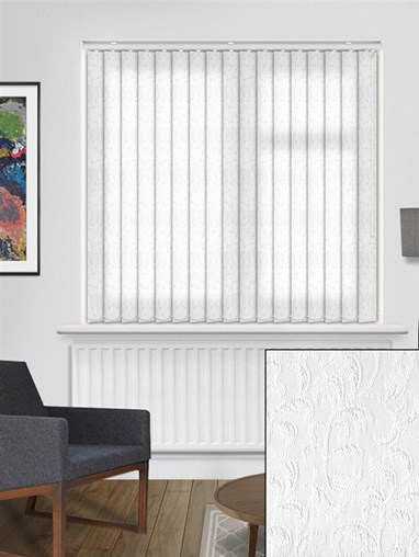 Hedera White 89mm Vertical Blind Replacement Slats