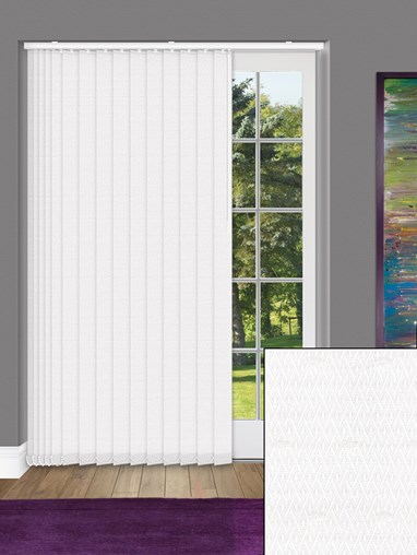 Mirage White 89mm Dim-Out Vertical Blind