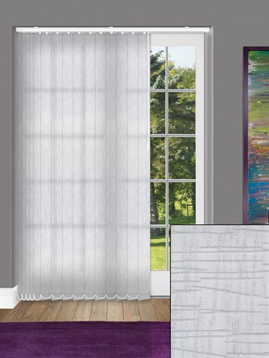 Quarry Mid Grey 89mm Dim-Out Vertical Blind