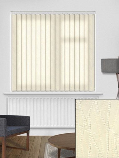 Rope Cream 89mm Vertical Blind Replacement Slats