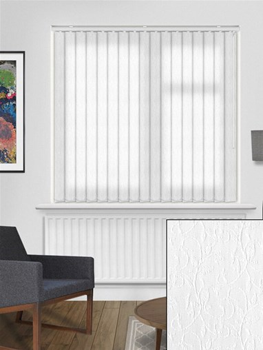Salix White 89mm Dim-Out Vertical Blind