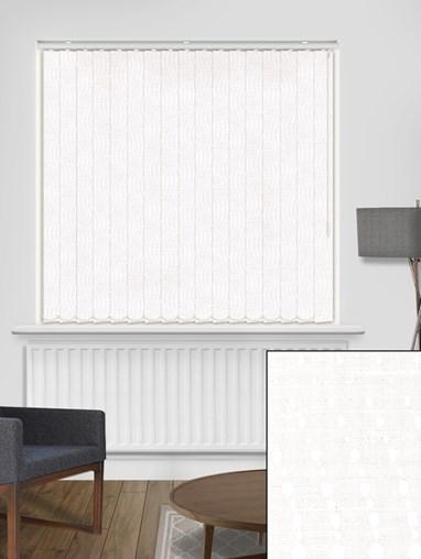 Tailor White 89mm Blackout Vertical Blind